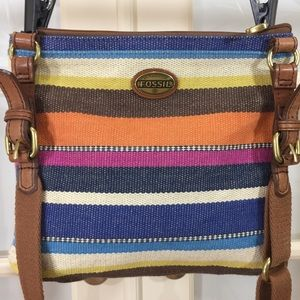 Fossil Genuine Authentic Multi Color Crossbody Bag